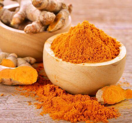 peppery: turmeric powder Stock Photo