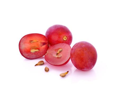 포도 씨앗, 포도 흰 배경에 고립 된
