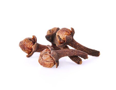 Cloves (flower buds of Syzygium aromaticum). Clipping paths, shadow separated