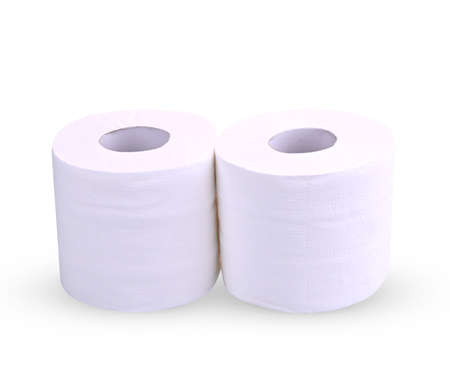 Toilet paper roll isolated on white Stock fotó