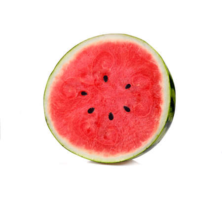 Half watermelon with isolated on white background Stock fotó