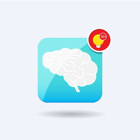 bookcover: Brain icon notification