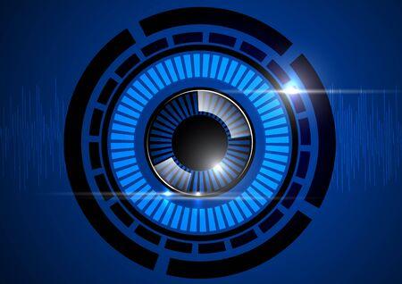 security technology: eyeball blue technology