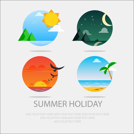 summer holiday: summer holiday icon