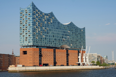 The Elbphilharmonie building in the port of Hamburg It is Germanys largest port and is named the countrys Gateway to the World.