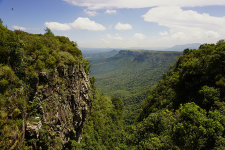 Republic of South Africa, Mpumalanga province. Gods Window - spectacular view over South Africas Lowveld