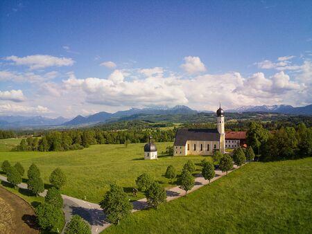 Pilgrimage Church Irschenberg Wilparting in bavaria Stock Photo - 133086352