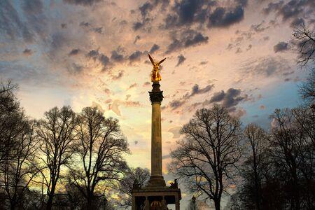 The Angel of Peace Friedensengel in the state capital Munich, Bavaria
