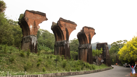 Miaoli Dragon Bridge Stockfoto