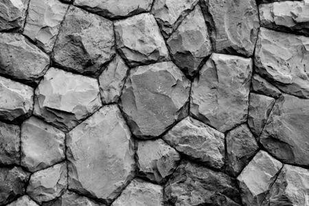 overbuilding: stone wall texture background black and white