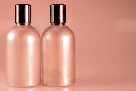freshener: Warm Tone and Side View : Two aluminium bottles