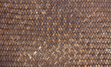 rattan: the brown wooden texture of rattan with natural patterns ,old Bamboo wooden texture Stock Photo