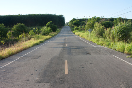 seson: asphalt road Stock Photo