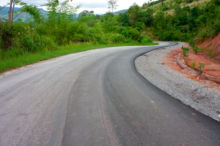 seson: asphalt road Stock Photo
