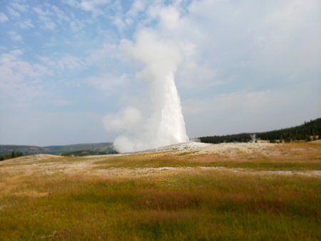 Old faithful gyser 스톡 콘텐츠