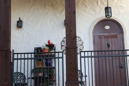 balcony entrance to a city dwelling in europe Reklamní fotografie