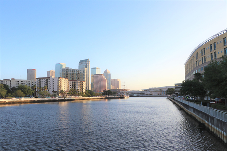 Tampa, Florida skyline at dawn