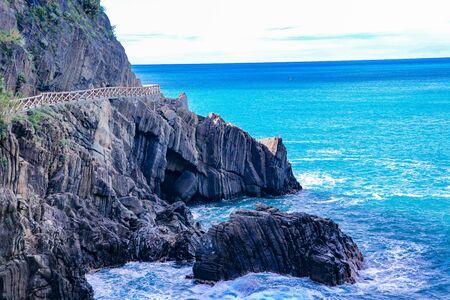 In Cinque Terre, the Riomaggiore village is a small village in the Liguria region of Italy.
