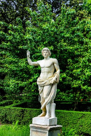 Exploring the Vatican city gardens in Rome, Italy Banco de Imagens