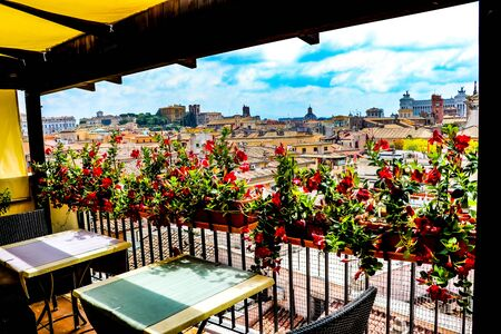Exploring the beautiful city of Rome, Italy Standard-Bild