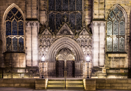 giles: The front door of st Giles Cathedral Edinburgh Scotland UK