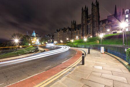 leading light: Curve light leading through beautiful building The Mound Edinburgh Scotland UK