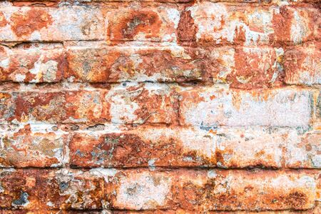 Vintage red brick wall texture background. Vintage effect. Stockfoto