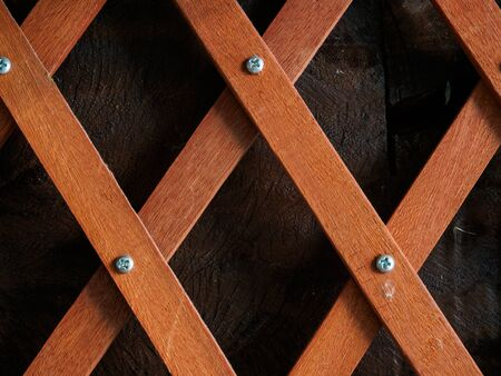 lath: Crossed wood lath