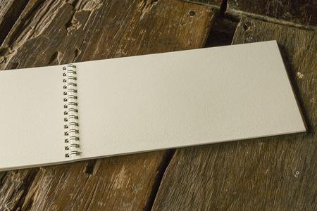 open notebook: Vintage blank open notebook Stock Photo