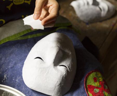 making mask Stock Photo