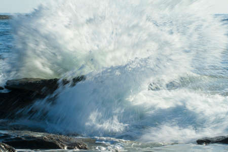 strongly: strongly wave in the big sea australia Stock Photo