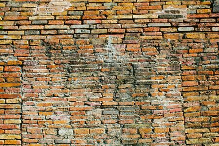 red brick: red brick grunge and background Stock Photo