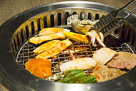 yakiniku: yakiniku buffet that Japanese style barbecue Stock Photo