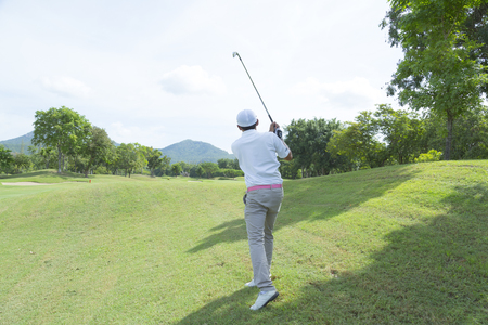 widely: widely golf  course in very nice day summer with player