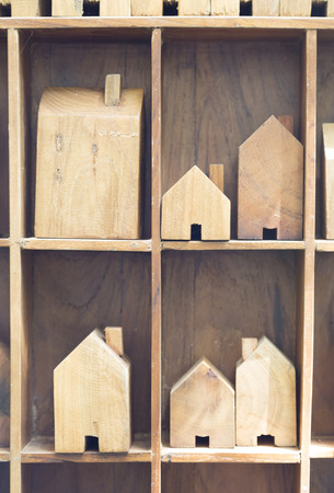 forsale: model of wooden block house