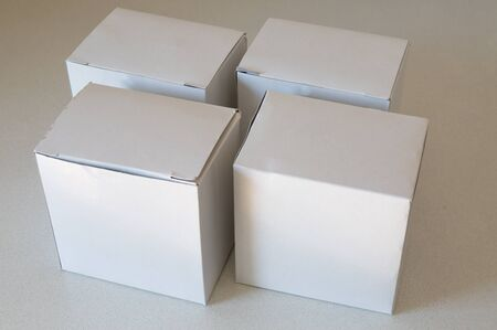 polyethylene film: white paper box on table