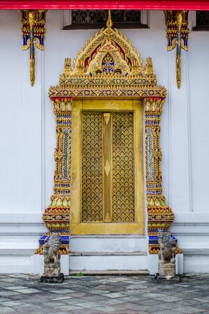 Door temple in Thailand photo