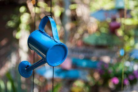 galvanized: watering can garden tree