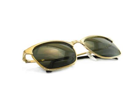 Golden sunglasses photo