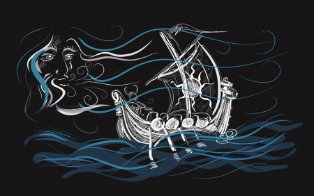 ancient ships: Journey Illustration