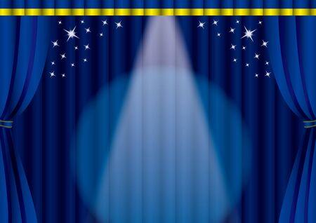 Spotlight on the stage 写真素材