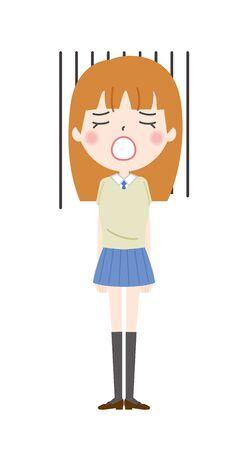 Shocking schoolgirl illustrations