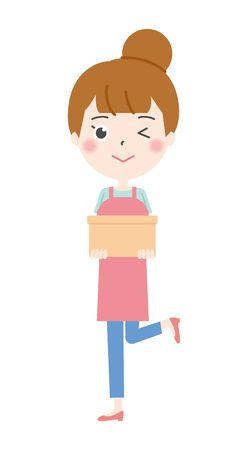 Illustration 2 of the housewife to wink with luggage