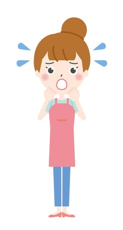 Illustration of a housewife in trouble 2