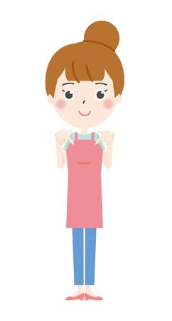 Illustration of a Housewife pointing