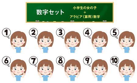 Illustration 1 where elementary school girls count