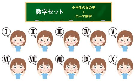 Illustration 3 where elementary school girls count the number