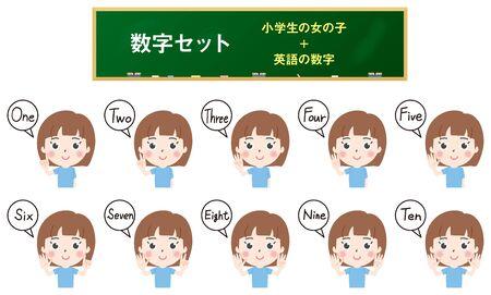 Illustration 4 where elementary school girls count