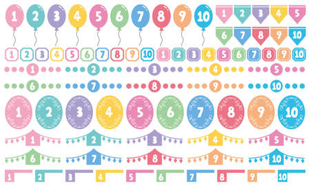 Colorful set of numbers