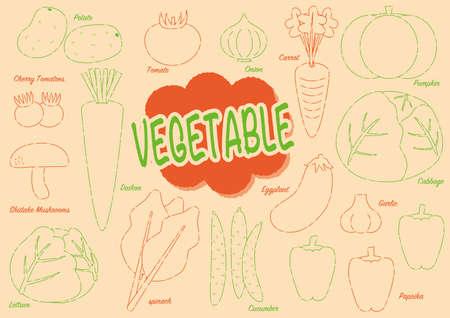 Set of cute vegetables 3
